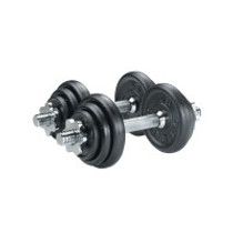 York Cast Iron Plate Dumbbell Set- 20kg
