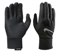 Nike Women's Dri-Fit Tempo Running Gloves - Black/Silver