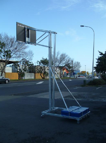 Mobile Basketball System - Intermediate Adjustable Height
