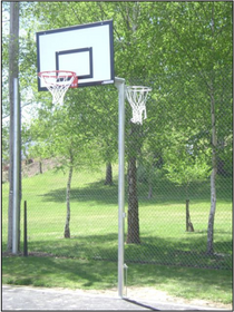 Basketball/Netball Reversible Fixed Tower - Primary
