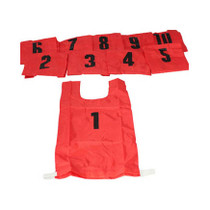 Training Bibs - Numbered 1 to 10 with a Goalie Bib