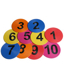 Flat Disc Marker – Numbered 10 pack