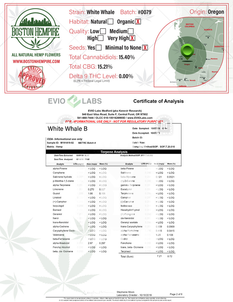 White Whale Terpene Report