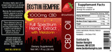 Strawberry Flavored Melatonin CBD Tincture Label