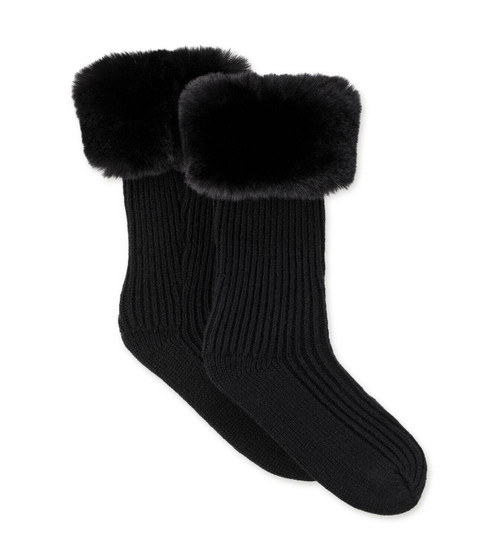 K Faux Fur Rainboot Sock