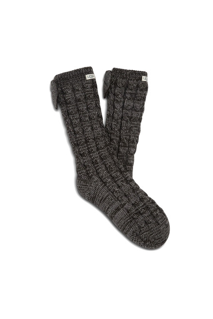 W Laila Bow Fleece Lined Sock