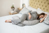 Dreamgenii Pregnancy, Support and Feeding Pillow Grey Floral - Includes Free Spare Cover