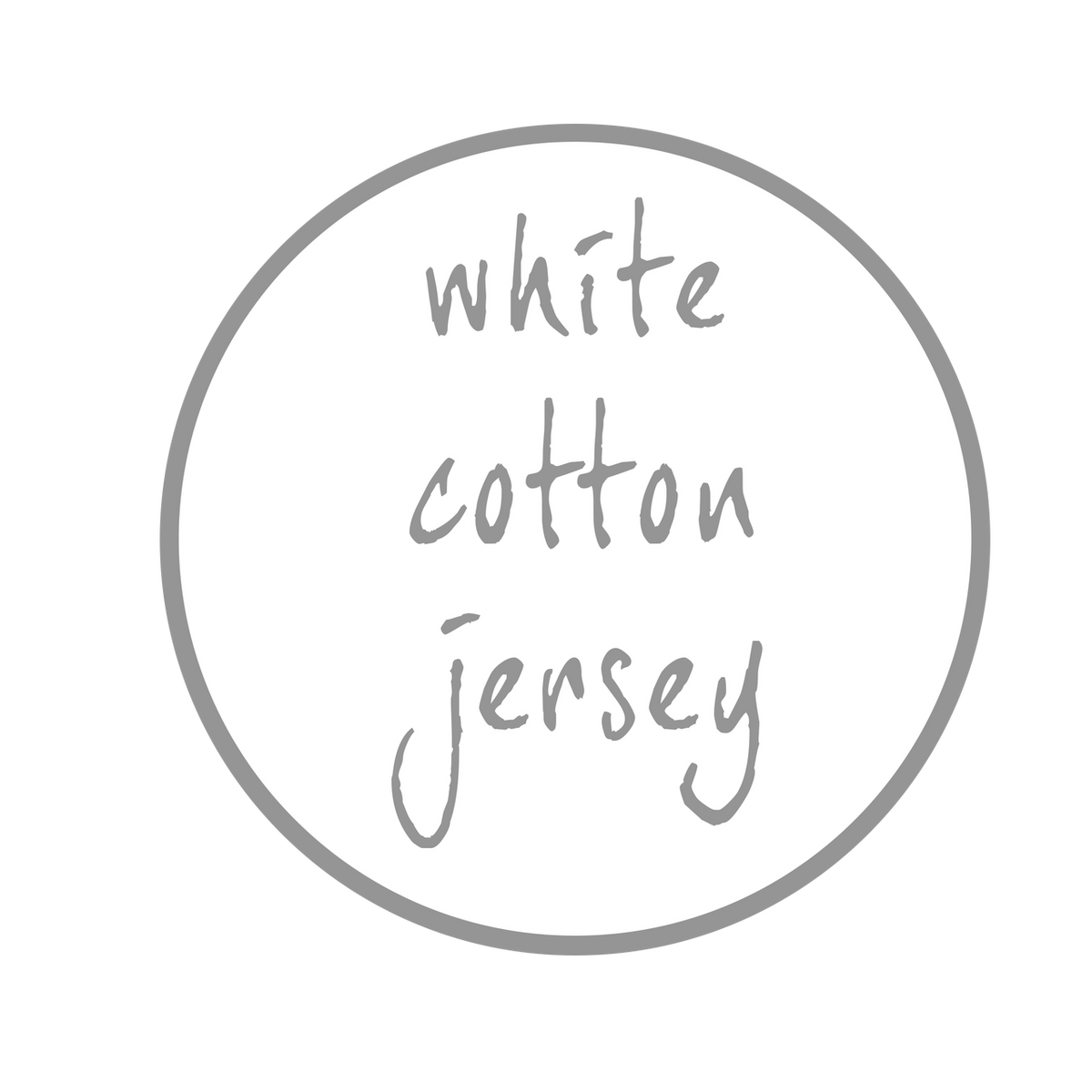 Dreamgenii Pillow Cover - White Jersey Cotton