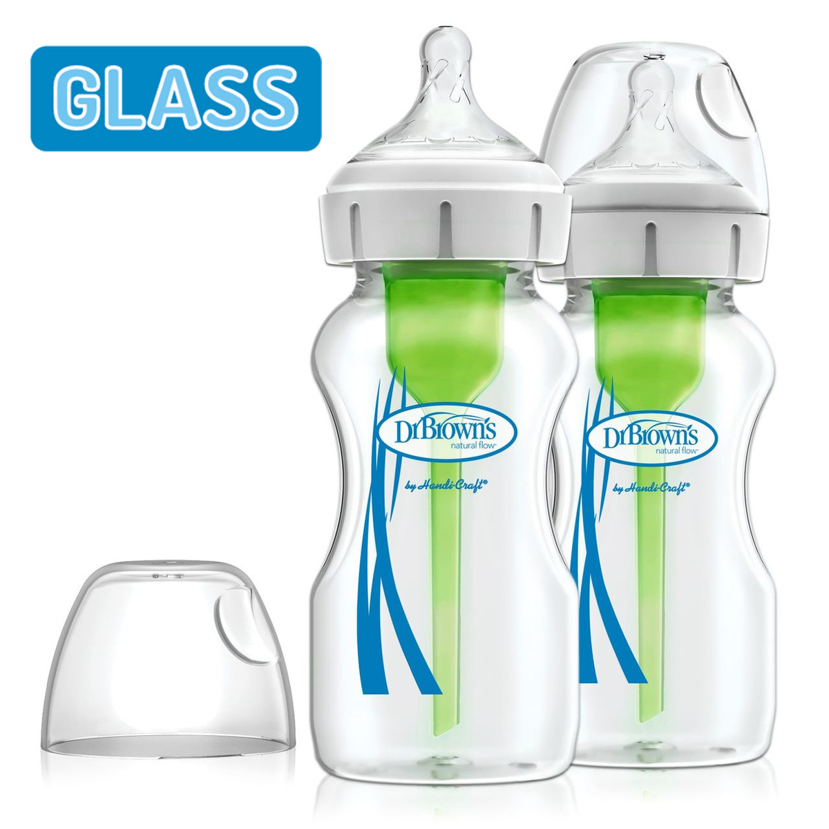 Dr Brown's Options+ Anti-Colic 270ml Glass Twin Pack