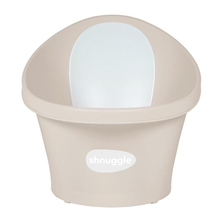 Shnuggle Baby Bath With Plug & Foam Backrest - Taupe