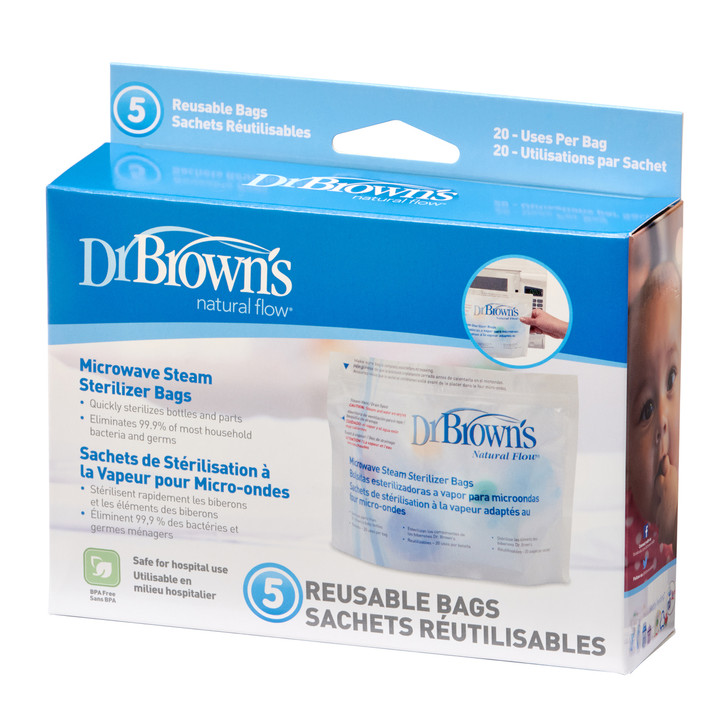 Dr Brown's Microwave Steam Steriliser Bags