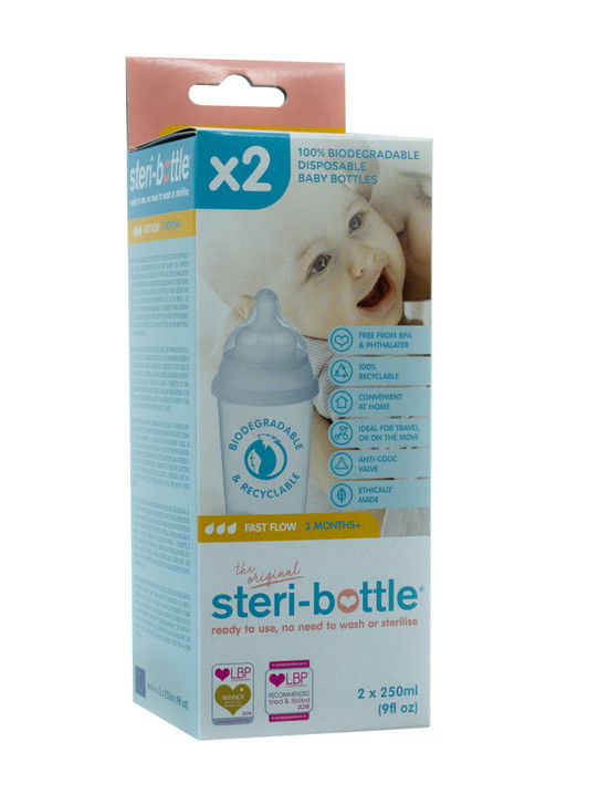 Steri-Bottle Biodegradable, 2 Pack