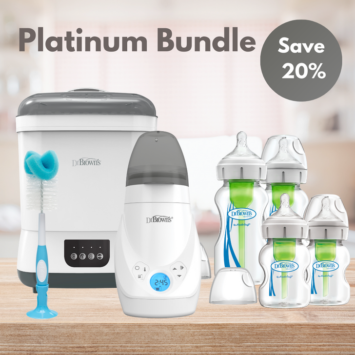 Dr Brown's Platinum Glass Bundle  - with Free Teether!