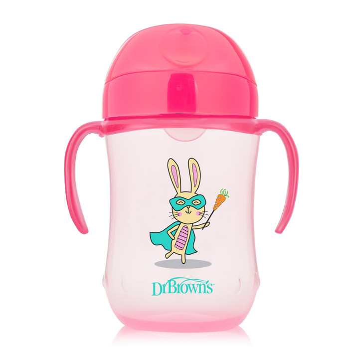 Dr Brown's 270ml Soft Spout Trainer Cup, Pink