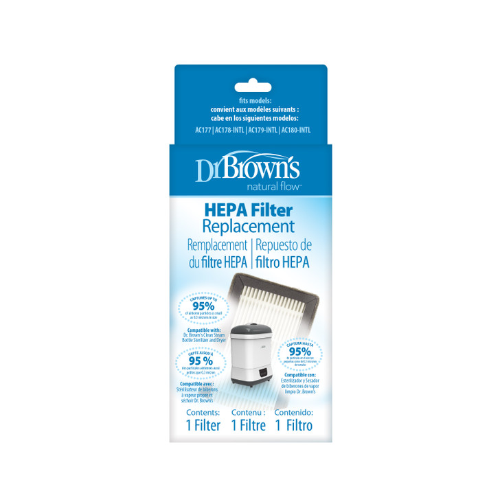 Dr Brown's Replacement HEPA Filter for Clean Steam Bottle Steriliser and Dryer