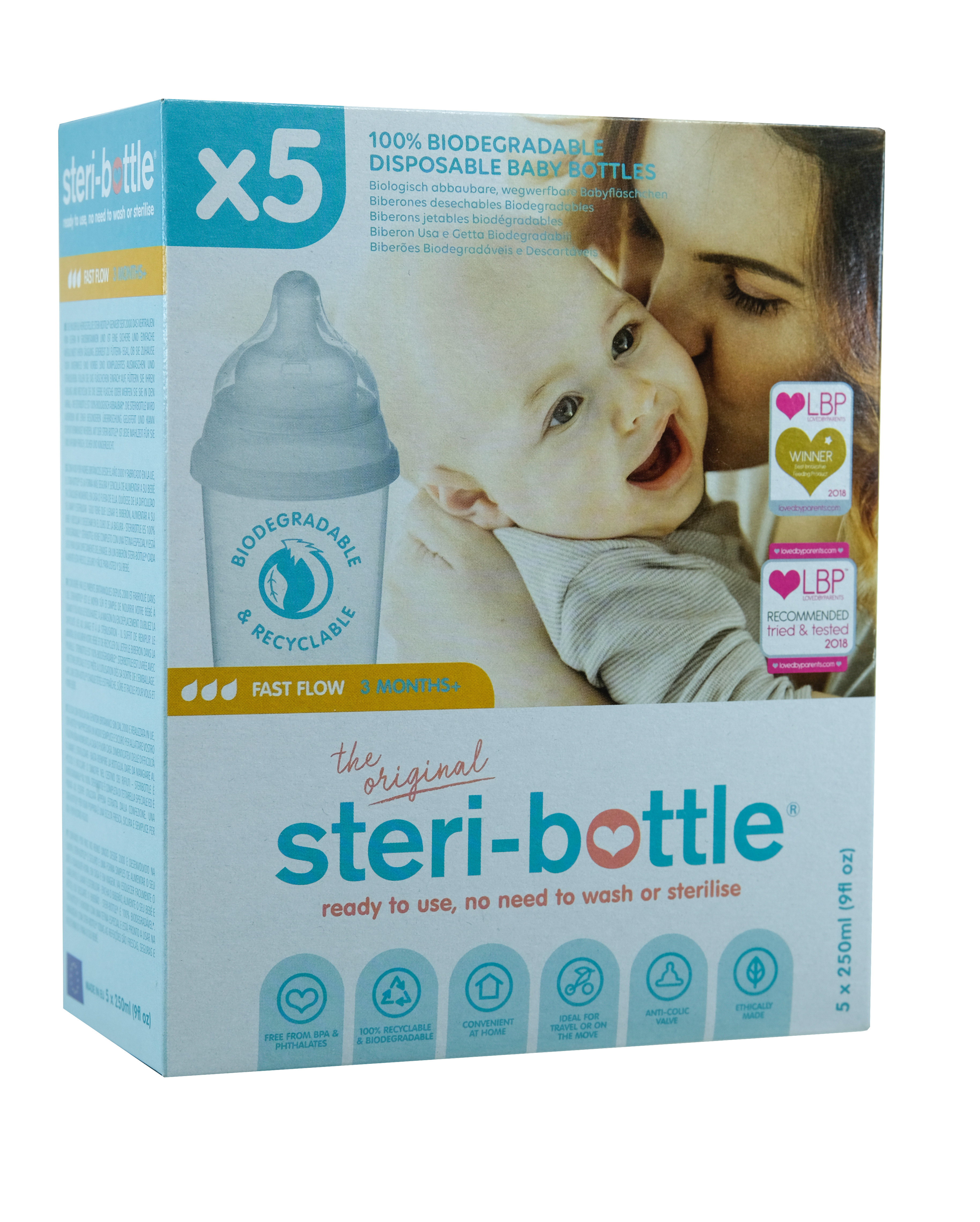 Steribottle Biodegradable 10 Pack