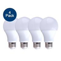 4-Pack Dimmable LED, 15W (100W eqv), 2700K