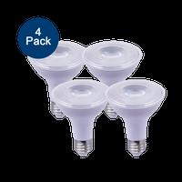 4-Pack Dimmable LED Par30, 11W (75W eqv), 2700K