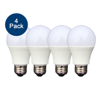 4-Pack Dimmable LED, 6W (40W eqv), 2700K