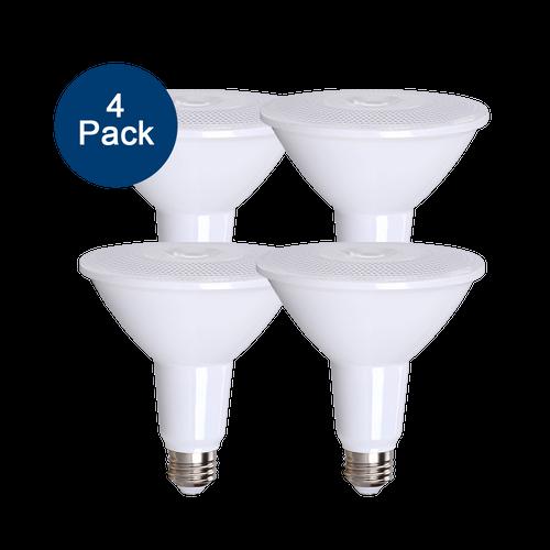4-Pack Dimmable LED Par38, 15W (120W eqv), 2700K