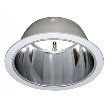 6 Inch - Polished Alzak Reflector Trim - Chrome with White Ring - R/PAR30