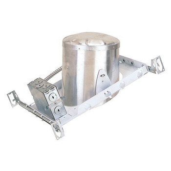 6 inch - Sloped Ceiling New Construction Line Voltage Housing - E26 Socket