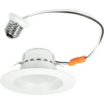 4 inch Retrofit LED Downlight - 13W - 800 Lumens - Dimmable - 4000 Kelvin - Stepped Baffle Trim - 120V