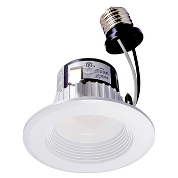 3 inch Retrofit LED Downlight - 9W - 680 Lumens - Dimmable - 3000 Kelvin - Stepped Baffle Trim - 120V
