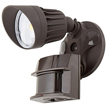 10W - Single Head - LED Motion Sensor Security Light - Bronze - 5000K