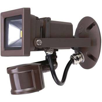 10W - Outdoor LED Motion Security Flood Light - Bronze - 5000K