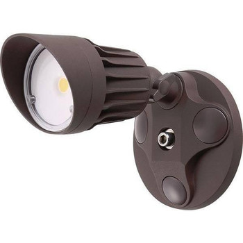 10W - Single Head - LED Security Light - Weatherproof - Bronze - 5000K