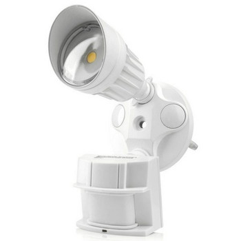 10W - Single Head - LED Motion Sensor Security Light - White - 5000K