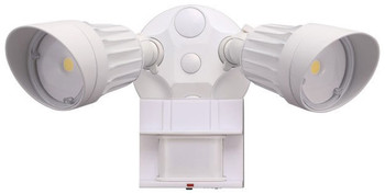 20W - Dual Head - LED Motion Sensor Security Light - White - 5000K