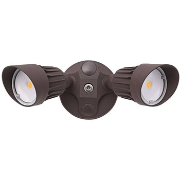 20W - Dual Head - LED Security Light - Weatherproof - Bronze - 5000K