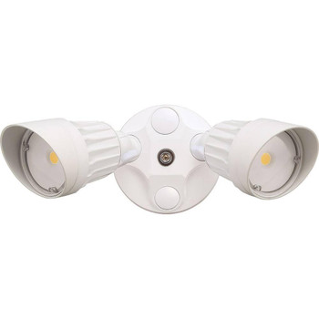 20W - Dual Head - LED Security Light - Weatherproof - White - 5000K