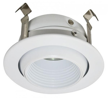 3 Inch Low Voltage MR16 Baffle Trim - Eyeball - White