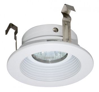 3 Inch Low Voltage MR16 Trim - Stepped Baffle - White