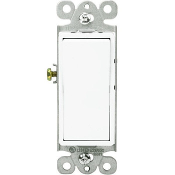 15 Amp - Decorator Switch - 3-Way - Paddle - White - 120/277 Volt
