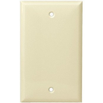 1-Gang Blank Wall Plate, Almond