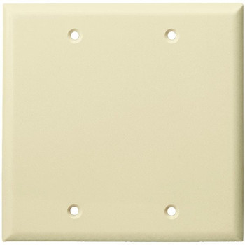 2-Gang Blank Wall Plate, Almond