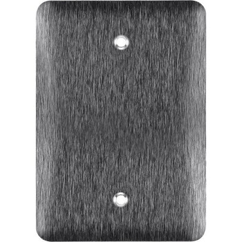 Blank Wall Plate - Stainless Steel - 1 Gang Mid Size