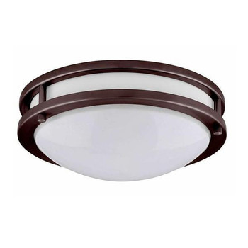 LED Flush Mount Ceiling Fixture - 10 Inch - 14W - 3000K - Bronze