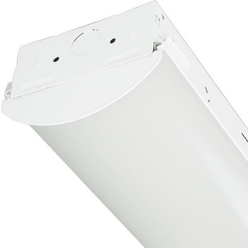 LED Strip Light Fixture With Lens - 2 Ft - 17 Watt - 1800 Lumens - 5000K - 120-277V