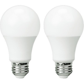 LED A19 Bulb - 10 Watt - 800 Lumens - 3000K - 2 Pack