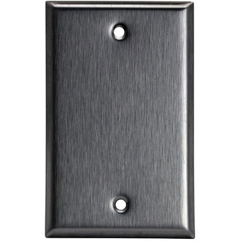 Blank Wall Plate - Stainless Steel - 1 Gang