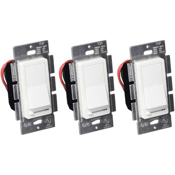 LED Wall Dimmer Switch for LED Lights, Three Way and Single Pole, 150W LED Compatible, 600W CFL Incandescent, Rocker Switch and Slide Dimmer, 120V, White, 3 Pack