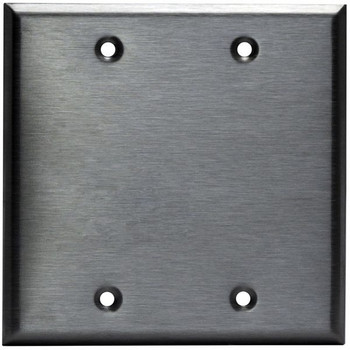 Blank Wall Plate - Stainless Steel - 2 Gang