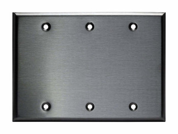 Blank Wall Plate - Stainless Steel - 3 Gang