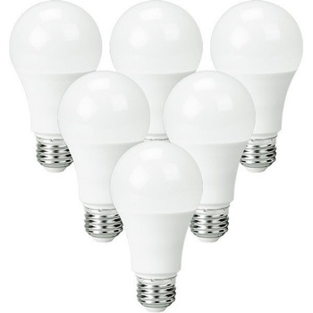 LED A19 Bulb - 9.5 Watt - 750 Lumens - 3000K - 6 Pack
