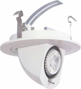 4 inch Retrofit LED Downlight - 7W - 450 Lumens - Dimmable - 3000 Kelvin - Pivot Drop Down - 120V - Pack of 6